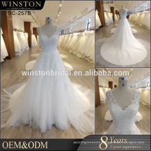 cheap plus size wedding dresses made in china factory V-neckline casual bridal gown wedding