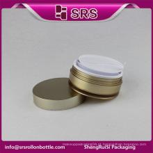 Recipiente de beleza e frasco de cosméticos e rosto creme de luxo plástico parafuso superior recipiente