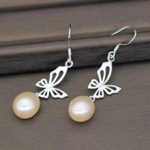 Fashion Dangle Freshwater Pearl Earrings For Wedding