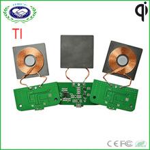 1 Coil Ti Lösung Wireless Ladegerät PCBA Kundenspezifisches Qi Wireless Ladegerät Modell für Möbel