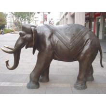 Handmade Metal Craft Bronze Elephant Animal Sculpture