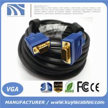 Câble de câble VGA SVGA long plaqué or HD15 Pin pour moniteur Projecteur TV 1.5m, 1.8m, 2m, 3m, 5m, 10m, 20m, 30m, 40m, 50m