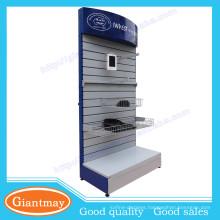 retail shop metal material slatwall panel display rack