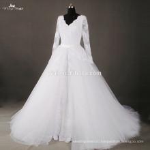 RSW807 V Neckline Detachable Skirt Wedding Dresses Removable Skirt Tulle Overskirt