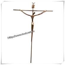Home Decoration Metal Catholic Wall Crucifix (IO-ca080)