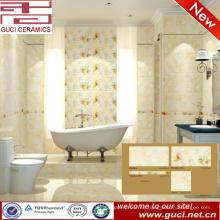 azulejo de la pared del piso del color crema de la porcelana de la venta caliente 300x450 para el cuarto de baño