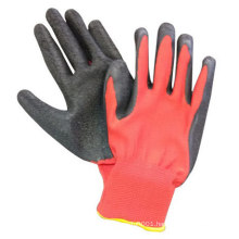 13G Polyester Shell Latex Palm Coated Safety Industrial Work Glove