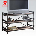 Simple Black Small TV Table mit 3 Regalen