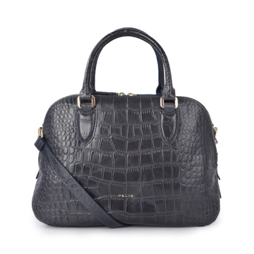 Kleine Robinson Croc Embossed Leather Bucket-Tragetaschen
