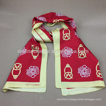 100% Silk Mens Printed Scarf