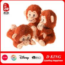 Monkey Cartoon Animal Stuffed Soft Plush Toy de calidad modificada para requisitos particulares