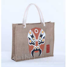 Cotton Handle Women Fashional Jute Bags/Tote Bag/Sack (hbjh-21)