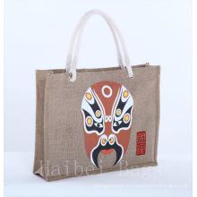 Женские модные джутовые сумки с хлопковой ручкой / большая сумка / мешок (hbjh-21)
