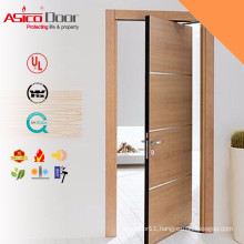 ASICO Solid Wooden Fire Rated Hotel Room Door With BM TRADA
