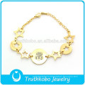 TKB-JB0008 Superbes bijoux bling élégants étoiles creuses bracelets en acier inoxydable 316L bracelets pour femmes