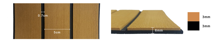 Marine Foam Padding EVA Faux Teak For Marine Diamond Sheet