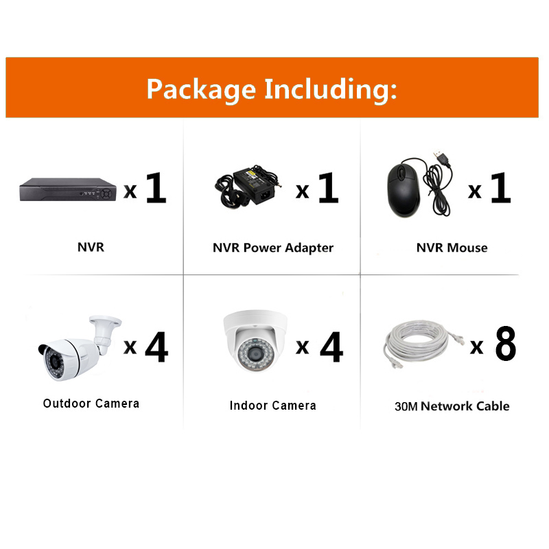 8ch Network Poe Video Security System