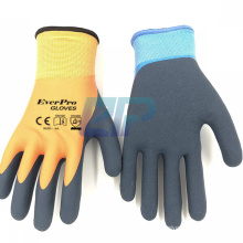 Tight Grip Palms Cold Temperature Waterproof Freezer Winter Work Gloves With Double Latex