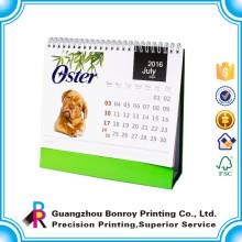 Calendario de mesa personalizado de diseño único de la empresa