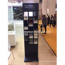 Stone Exhibition Display Units Custom Trade Fair Fixtures Freestanding Metal Ceramic Tile Show Stand