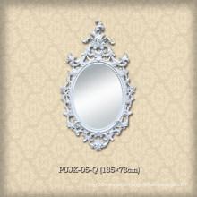 Purely White European Style Mirror Frame for Villa