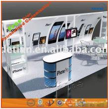 design de showroom de telefone celular com divisores de cabine para a arte da cabine de exposição