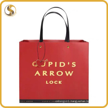 Customized Logo Paper Shopping Bag with Flat Rope Handle