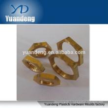 Rondelle à écrou hexagonale en laiton personnalisée, rondelle filetée, rondelle filetée