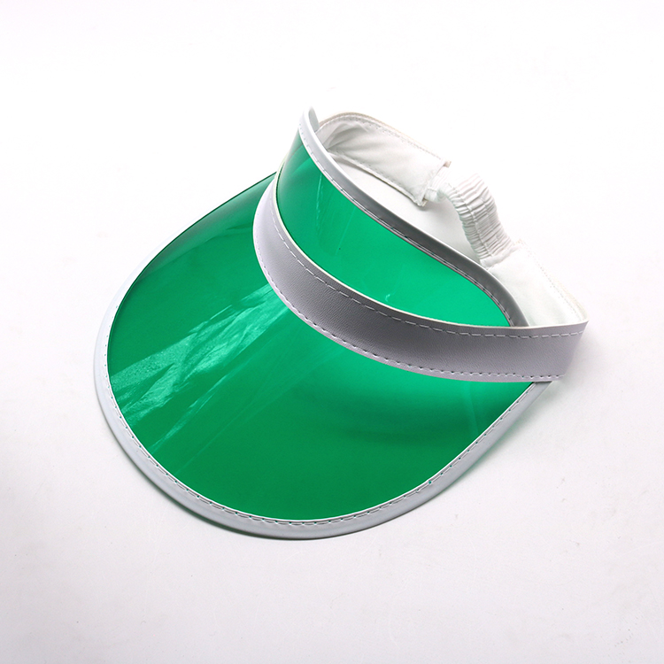 green transparent pvc visor cap