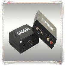 VGA + conversor R / L para HDMI (permite que um dispositivo VGA + R / L seja convertido facilmente em um monitor HDMI1.1 ou projetor)