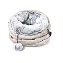 Factory Sale Various Soft Foldable Luxury Cat Winter Printed Composite Tunnel