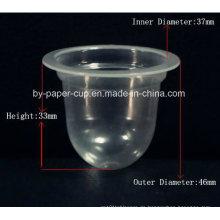 Nehmen Sie weg von kundenspezifischen Kristall-transparenten Plastikgelee-Schalen