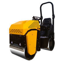 high quality gasoline double drum road roller