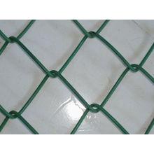 Malla de enlace de cadena revestida de PVC de color verde