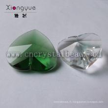 Nouveau perles de verre en gros pas cher mode coeur cristal