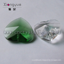 New fashion heart crystal cheap wholesale glass beads