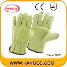 Кожаные рабочие перчатки для машиниста с запасом прочности (22201)