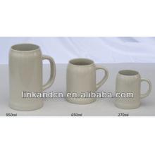 Haonai 2014 large ceramic beer mugs,multi-sizes beer mug