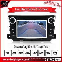 GHz Car DVD GPS Navegación Android 5.1 / 1.6 para Smart Fortwo Car Audio con conexión WiFi