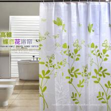 Hochwertiger 100% Polyester wasserdichter Duschvorhang für Badezimmer (DPH7090)