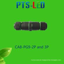 3-5 pinos conector à prova d'água / cabo conector para lâmpada da rua iluminação
