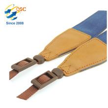 Blue Jean Camera Shoulder Neck Strap Camera Belt with Leather Ends For SLR/DSLR Cameras