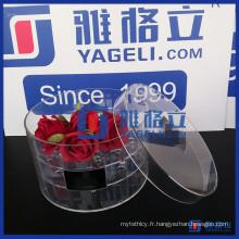 Support de support en fleur acrylique transparent