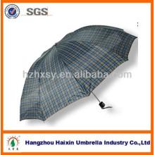 Polyester Karo Check Regen Regenschirm für Mann