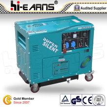 Gerador diesel silencioso super da certificação do CE (DG6500SE-N)
