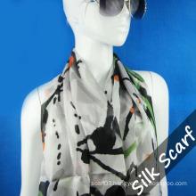 Wide Chiffon Silk Scarf with High Quality