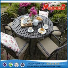 Guangdong-Möbel-Garten-Tabellen und Stühle im Freien werfen Aluminiumstühle