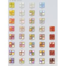 Mosaico de vidrio de color sólido para el material decorativo 10by10