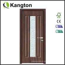 Porta de madeira de PVC de MDF de vidro estilizado (porta de madeira de PVC)