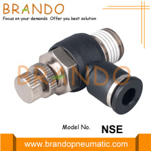 NSE Flow Speed Control Plastic Pneumatic Hose Fitting